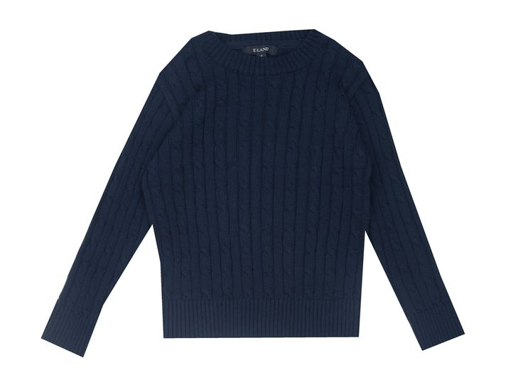 E-Land Navy Cable Sweater Baby/Boy