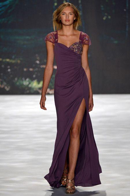 Badgley MischkaFashion Weeks, 2013 Readytowear, 2013 Rtw, Purple Dresses, Mischka Spring, Gowns, Spring Summer, Spring 2013, Badgley Mischka