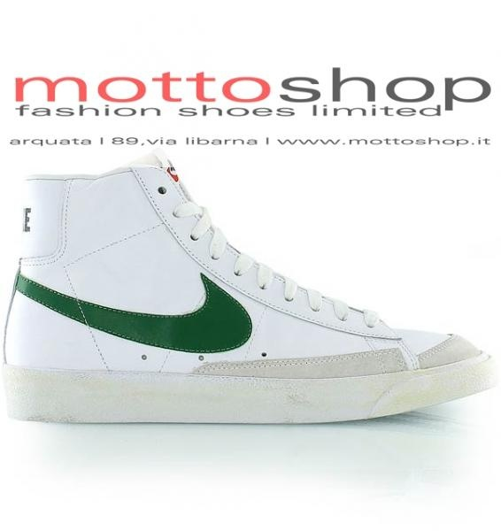 Scarpe Uomo Alte Nike Sportswear Blazer Mid '77 Premium - White/Green