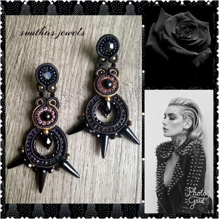 Soutache earrings. by sunthas jewels