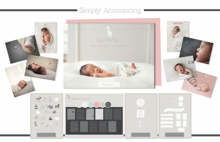 Simply Announcing Template Collection | Laugh & Grow Press