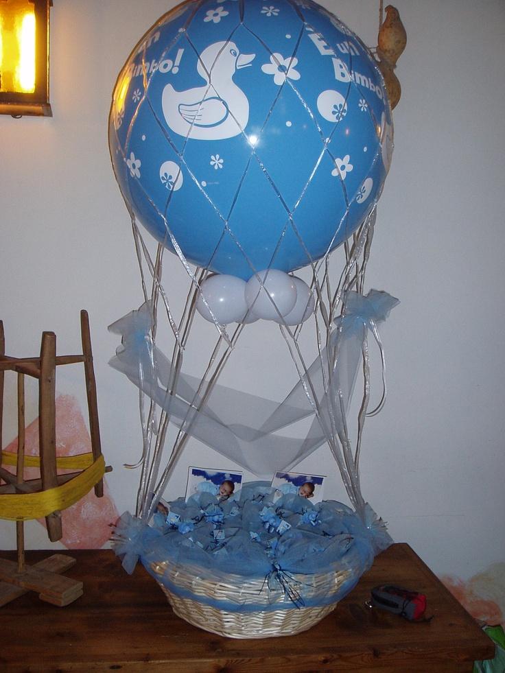 mongolfiera porta bomboniere