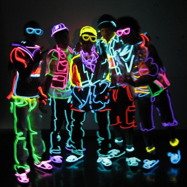 86 best el-wire images on Pinterest | Wire, Burning man and Neon