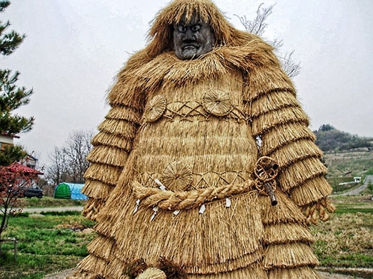 Straw figure, Akita prefecture, Japan.