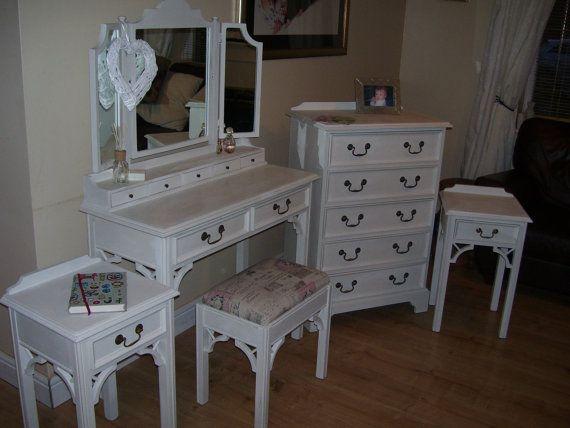 Shabby Chic Solid Wood refurbished bedroom by LittleTreatsGiftShop