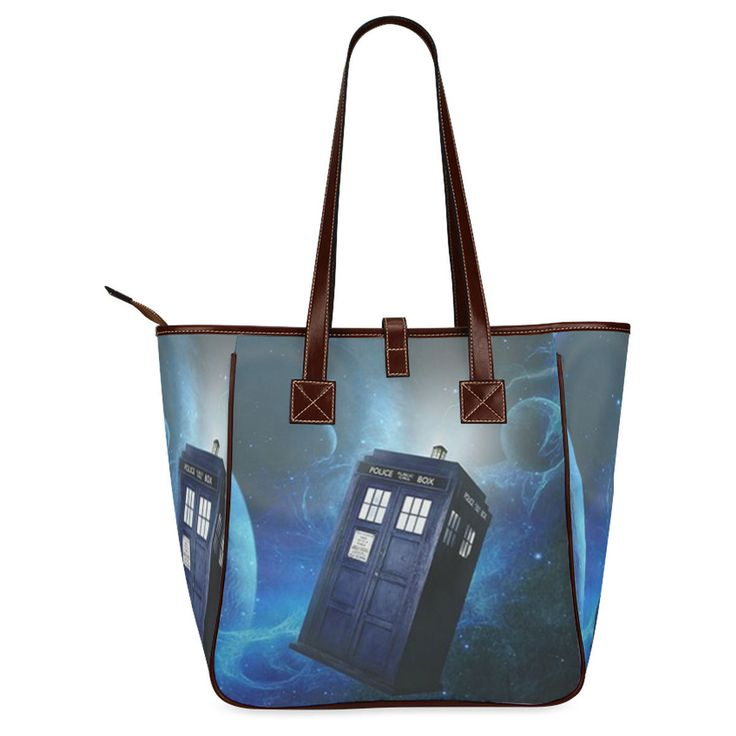 Doctor Who Bule Police Call Box Classic Tote Bag