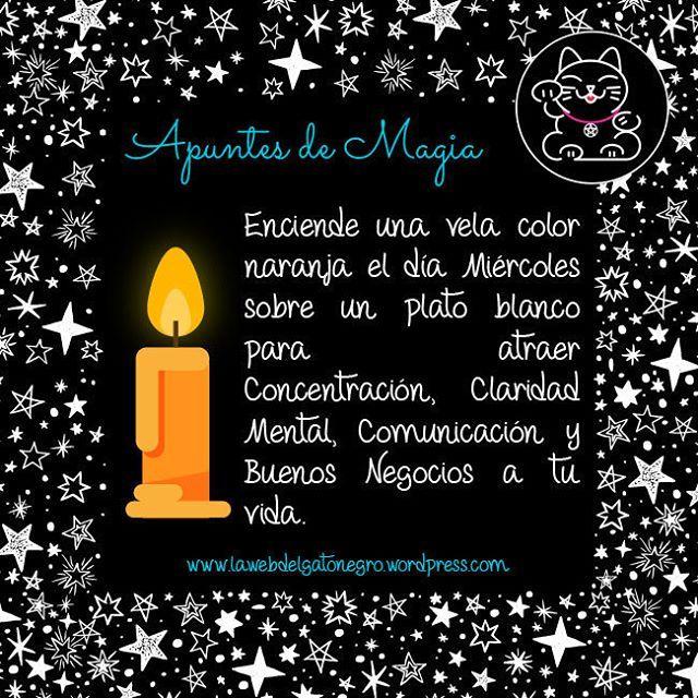Enciende una vela color naranja los días miércoles para atraer concentración, claridad mental, comunicación y buenos negocios a tu vida  #magia #velas #wicca #rituales #paganismo #pagan #espiritualidad