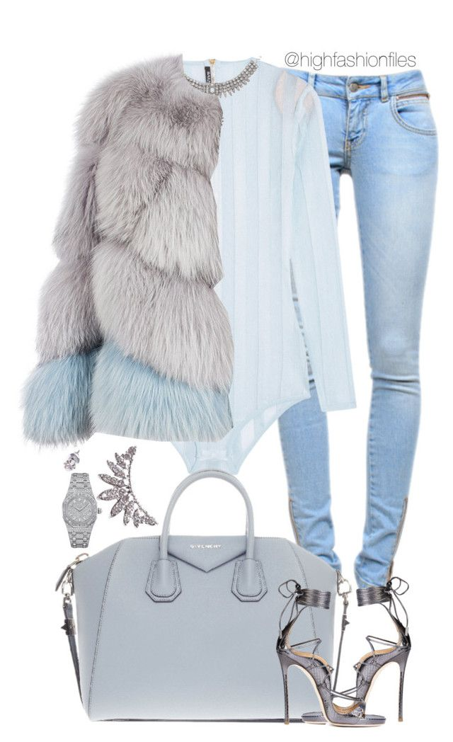 """Ice Cold ❄️"" by highfashionfiles on Polyvore featuring Anine Bing, Balmain, Milusha, Givenchy, Wet Seal, Dsquared2 and Audemars Piguet"