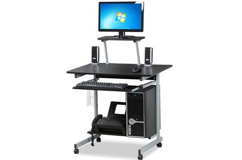 Topeakmart Home Office Mobile Computer Cart Desk #Top 10 Best Rolling Laptop Carts for Office Use Reviews