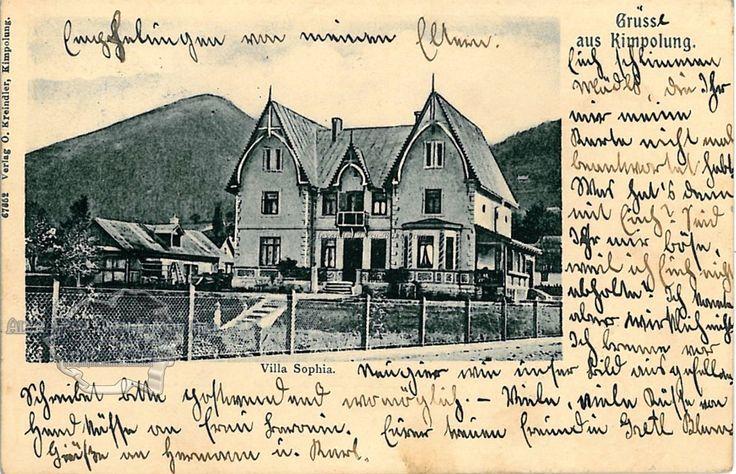 Câmpulung. Plasa Moldova. Orașul Câmpulung Moldovenesc. Vila Sophia. 1906