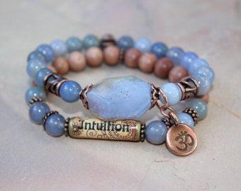 Boho Dragonfly Chakra Armband und Ohrringe Libelle von gotchakra