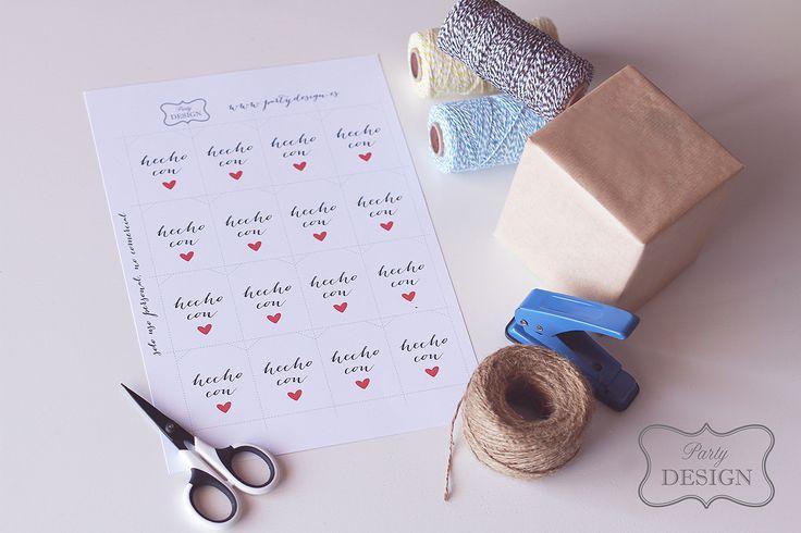 Imprimibles gratis de etiquetas hecho con amor para - Regalos de muebles gratis ...