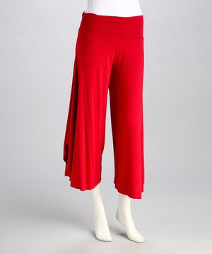 Loving this Red Angel Gaucho Pants on #zulily! #zulilyfinds