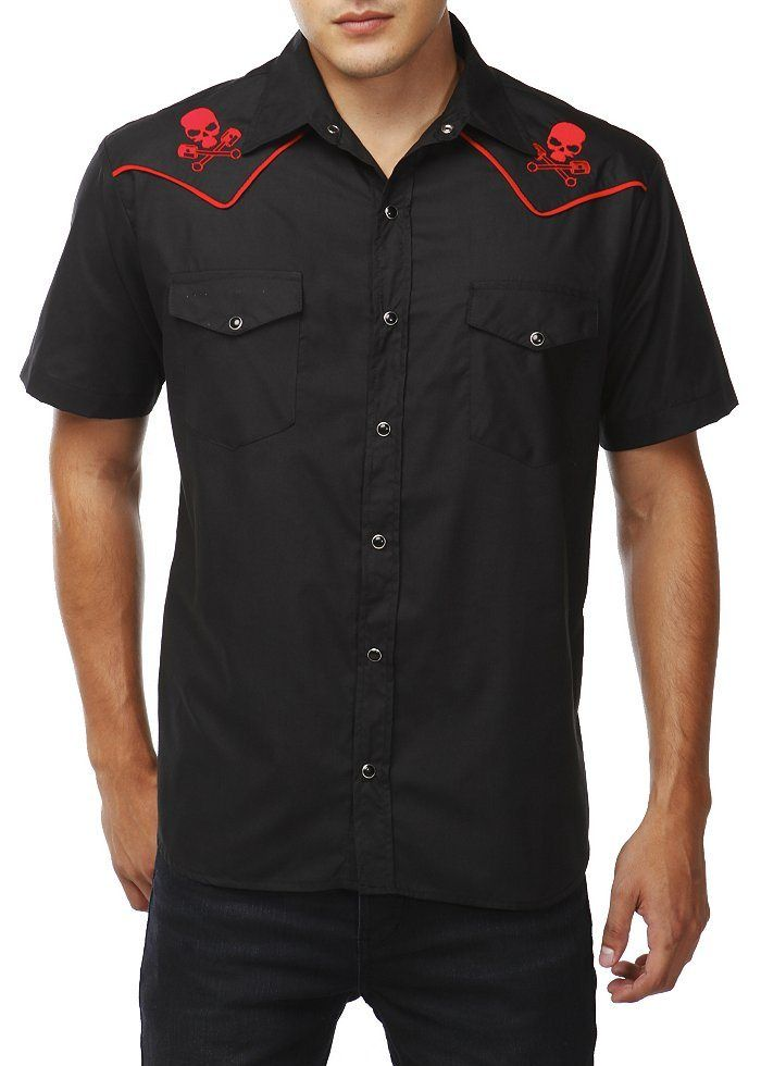 Men's rockabilly western shirt available at The   Green Gurl
