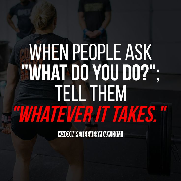 "When people ask ""What do you do?"", tell them ""Whatever it takes.""                                                                                                                                                     More"