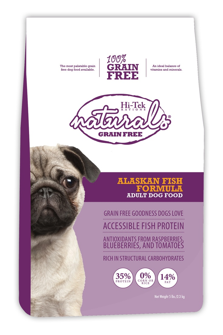 The new Alaskan Fish formula is grain free with high percentage of protein