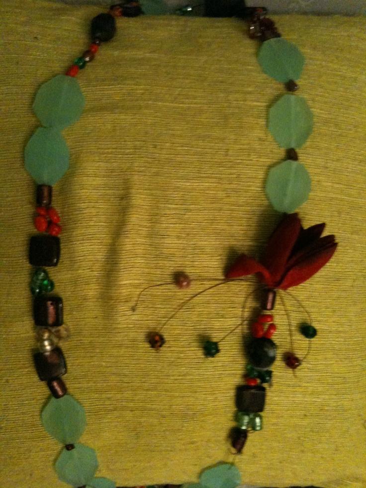 gemstone colorblock necklace
