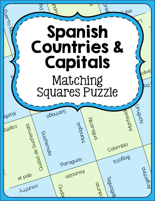 14 best images about Spanish on Pinterest | Spanish, Activities ...