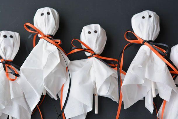 pirulito fantasma para dia das bruxas.