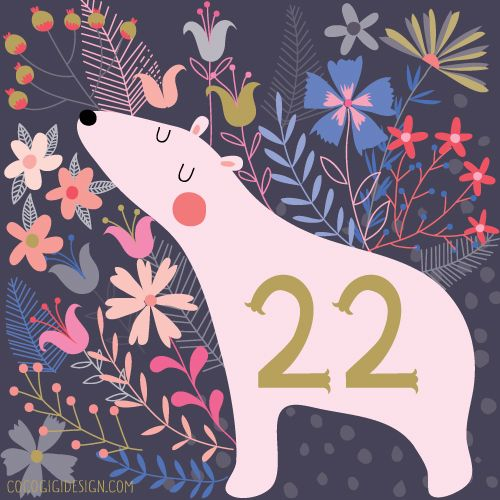 A polar bear for today's advent, and lots of flowers to be on the safe side :)