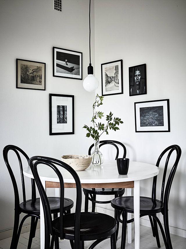 T.D.C: thonet chairs, art + pendant light