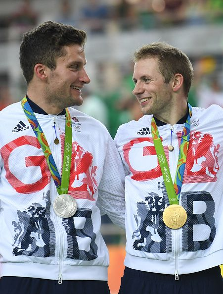 Silver medallist Britain's Callum Skinner and gold medallist Britain's Jason…