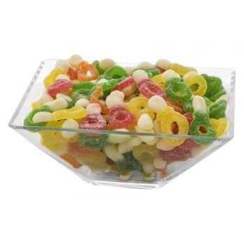 Daca vrei sa iti aduci aminte de copilarie folosesti jeleurile suzeta cu multiple arome la petrecerea ta.Chiar daca preferi sa sugi  aceste suzete sau sa musti din ele, trebuie sa te astepti la un gust de fructe acrisor.