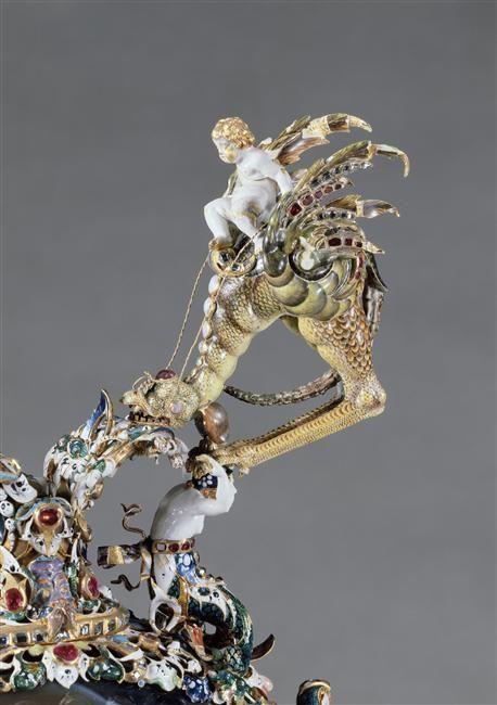 Pierre Delabarre | Aiguière | Pierre : époque indéterminée. Monture : Delabarre, Paris, vers 1630-1635. Ancienne collection de Louis XIV.