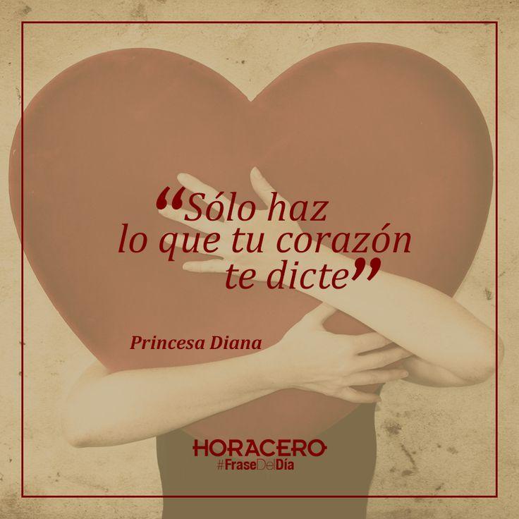 """""""Sólo haz lo que tu corazón te dicte"""" Princesa Diana #frases #citas #frasedeldía"""