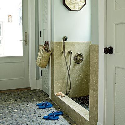 Jennifer Adams Design Tips and Trends: Entry, Laundry or Mud Room Design - Dog Showers