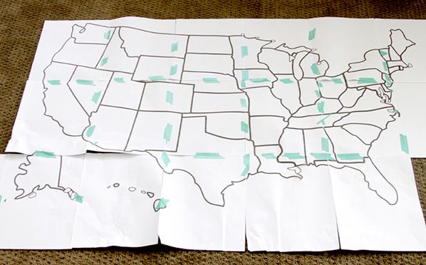 Print Your Map US Map quilt