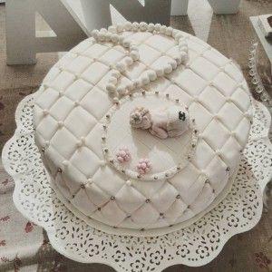 Tarta hecha por Karina para el bautizo de Annie Marie