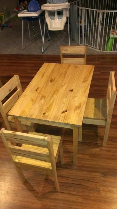 Kids Round Table And Chairs Dining Wingback Childrens | Do It Yourself Home Projects From Ana White Knock Offs ...