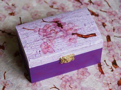 Szkatułka- Japońska wiśnia
