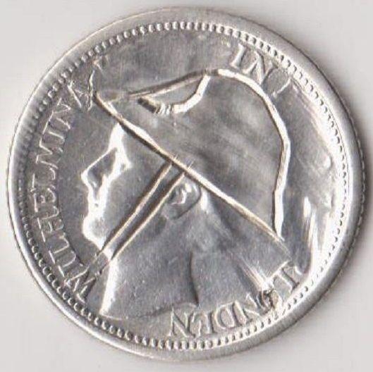 Nu in de #Catawiki veilingen: Nederland - 10 cent 1941 Wilhelmina met helm in Londen