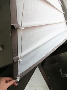How to make roman blinds | this one makes a casing for the dowel rods so you can remove and wash them.