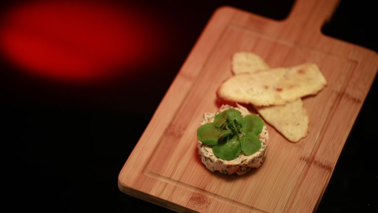 Thalia and Bianca's Salmon Rillettes with Olive Oil Crackers: http://gustotv.com/recipes/appetizer/salmon-rillettes-olive-oil-crackers/