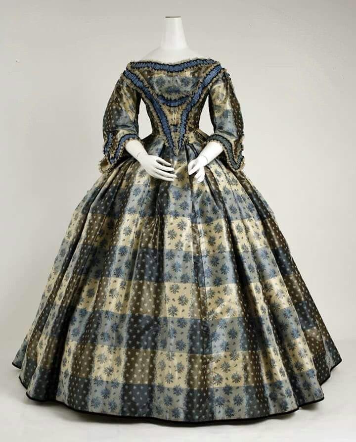 1859 British designed silk dress.
