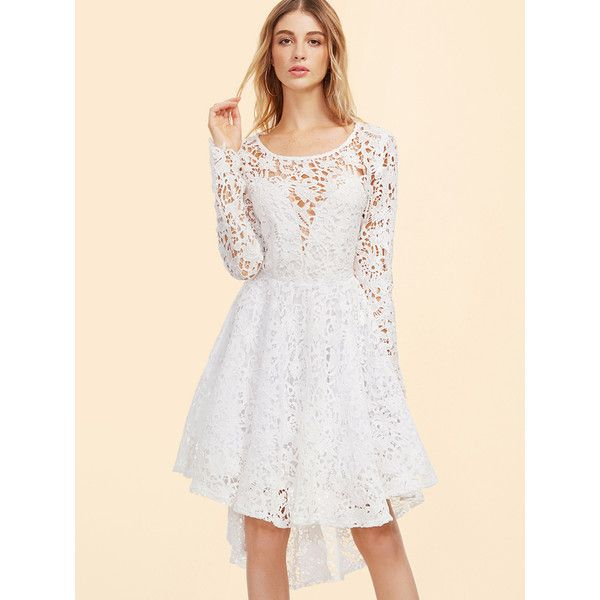 A line white dress in fall