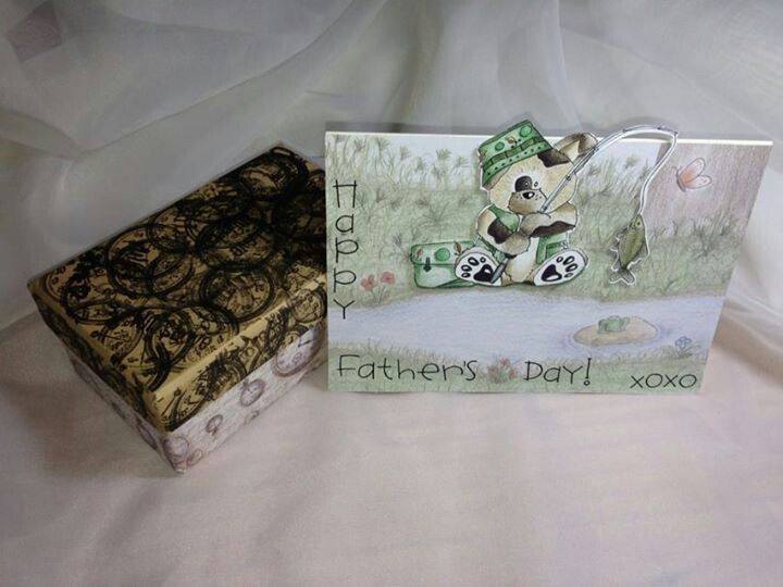 Fathers day gift box & card