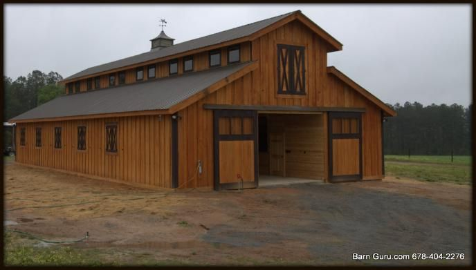 Barn Plans 10 Stall Horse Barn Design Floor Plan Lake