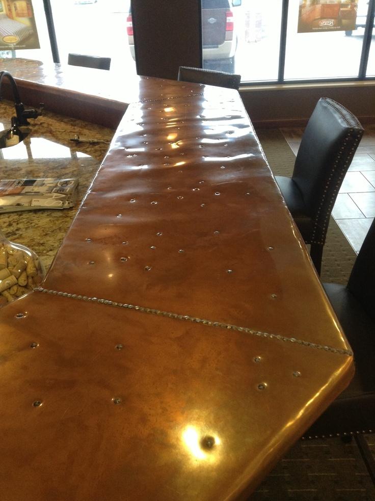 Cool Copper Bar With Rivets Jailbreak Pinterest Tops