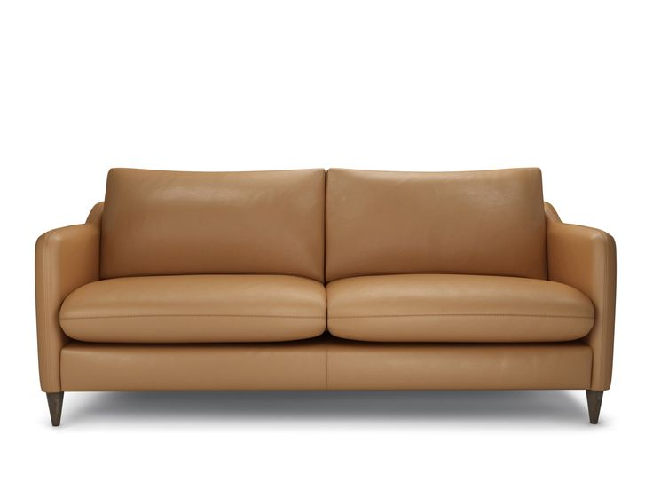 The Lounge Co. Georgia 3 Seater Sofa in Smooth Leather - Camel #theloungeco #sofa #chair #footstool #brown #fabric #velvet #leather #stylish #rustic #elegant #traditional #modern