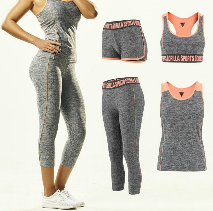 Snygga och funktionella Träningskläder från GorillaSports  #träningskläder #tränahemma #med #gorillasportssweden #gymma #hemma #skivstång #löpning #tights #linne #sportbh #träninghotpants