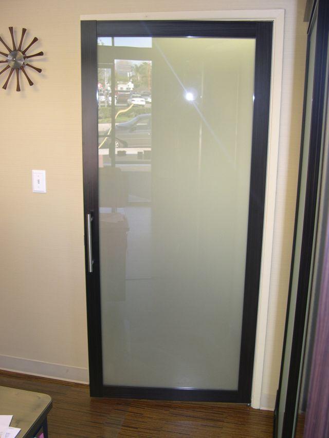 Interior Etched Glass Doors - Full lite interior doors ... |Frosted Glass Office Doors