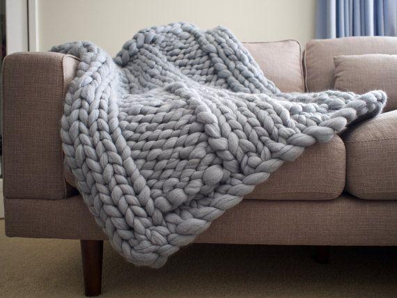 20% OFF  Chunky Merino Blanket  Merino by AbbyStClaireBlankets