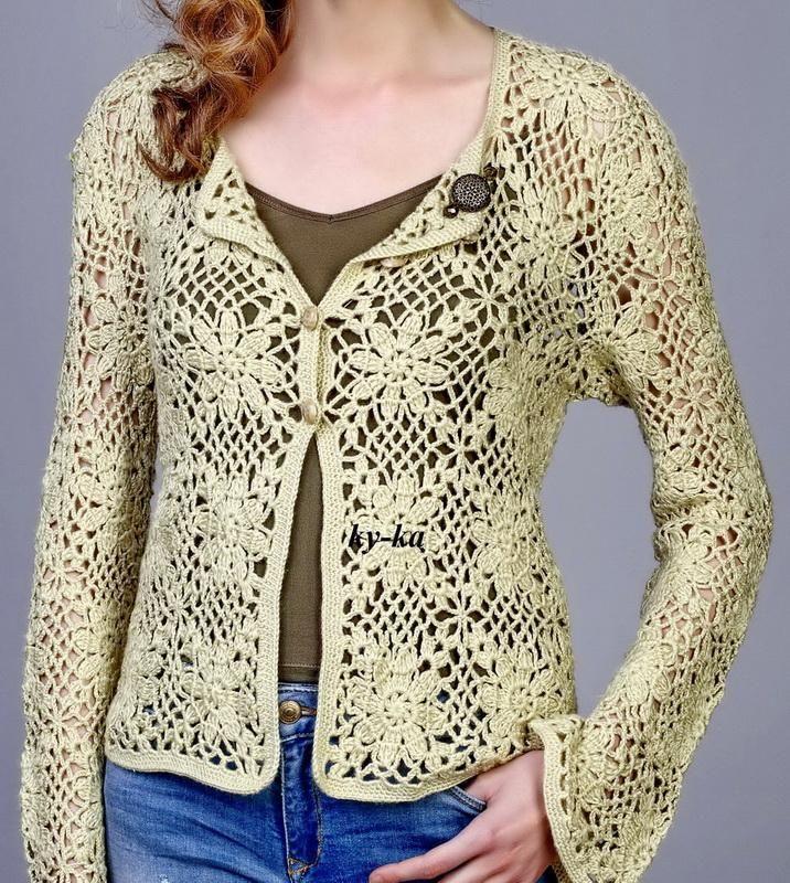Crochet Sweaters: Square Crochet Motif