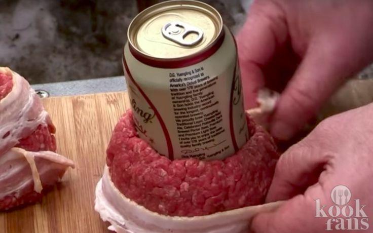 Geweldig: maak met behulp van een leeg frisdrank- of bierblikje dít heerlijke barbecuegerecht!