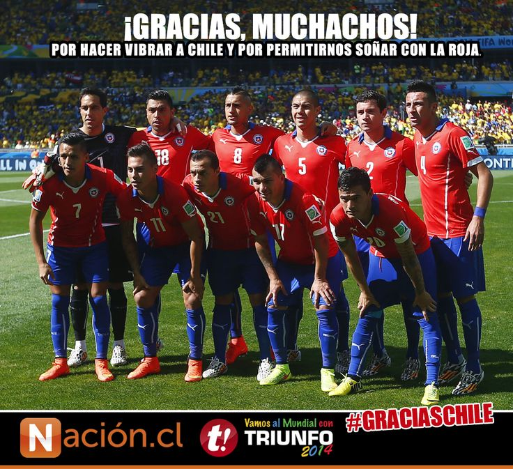 ¡Gracias, muchachos! Por hacer vibrar a Chile y hacernos soñar con La Roja.