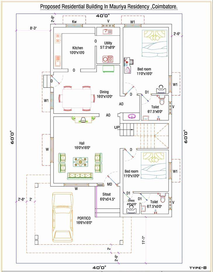 60 X 40 House Plans Fresh House Plan In 2020 30x40 House Plans Free House Plans Indian House Plans